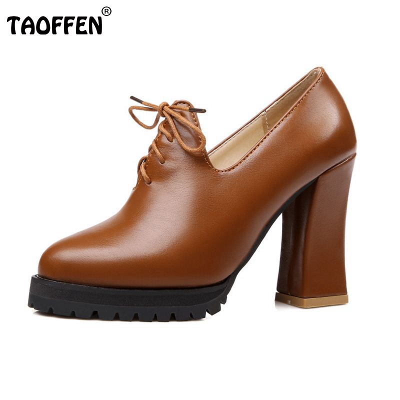 Size32-45 New Spring And Autumn Thick High Heeled Pumps Round Toe Lacing Female Platform Shoes Casual Shoes Square Heeled мужские ботинки spring autumn hightop size38 45 2