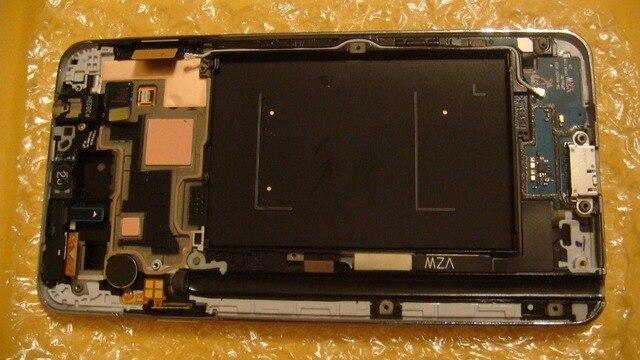 AAA Качество ЖК-Экран + Рамка Для Samsung Galaxy Note3 ЖК-экран с digitizer сенсорный стекло N900 N9005 N900A N900V Белый