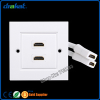 HDMI Wall Plate With Cable UK Type