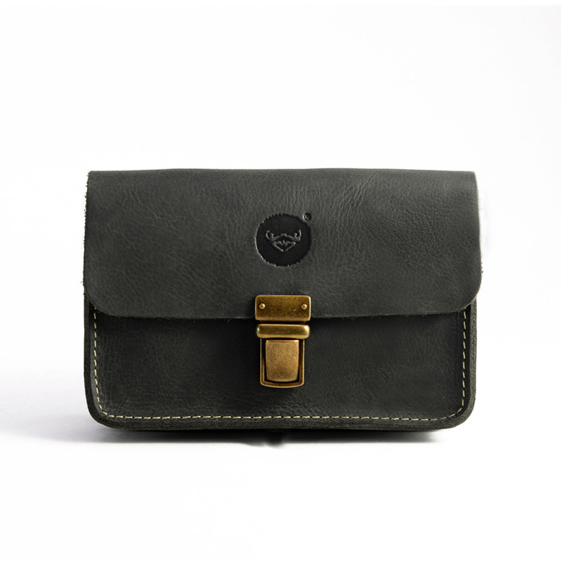 Vintage Crazy Horse Leather Purse New Apple 6PLUS mobile phone bag Men s pockets Waist bag