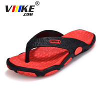 viiikecomNew Style Rubber Soft Shoes Outdoor Beach Men's Slippers Massage Summer Men Flip Flops Male Mixed Color Slippers Men