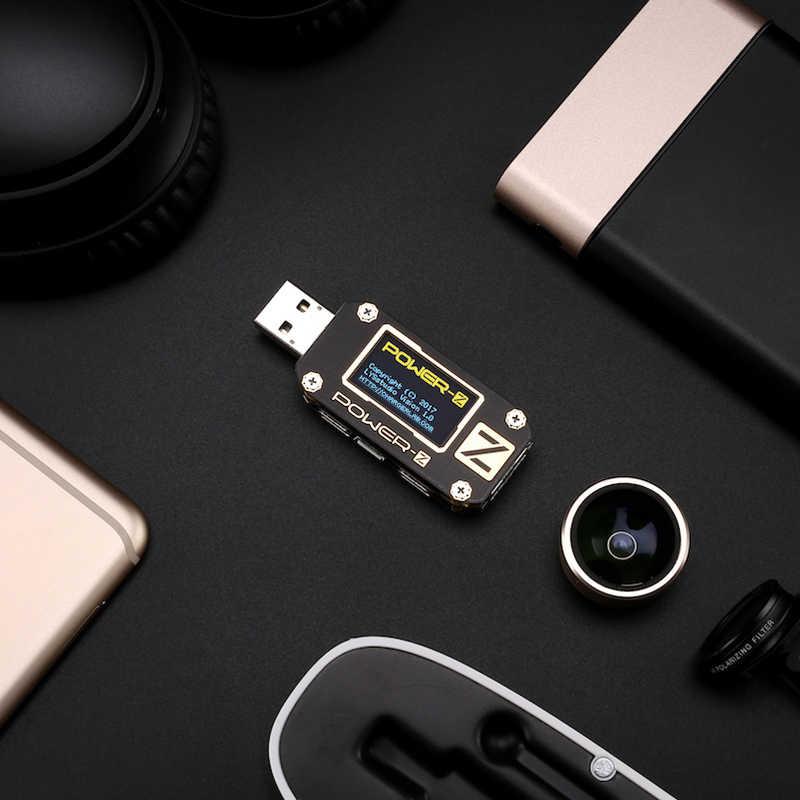 Testeur USB type-c QC2.0/3.0/PD voltmètre numérique ampèremètre de tension numérique ampère-z mètre détecteur de batterie externe