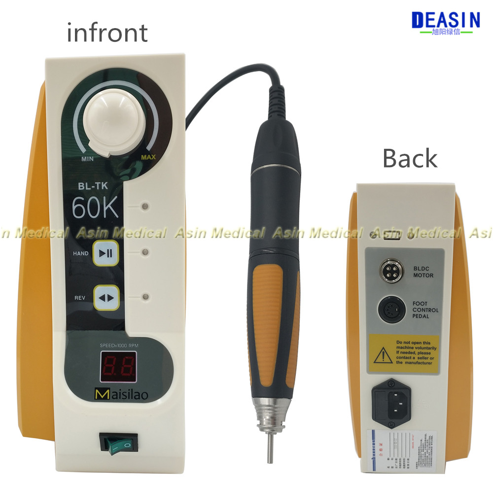 good quality 60 000 rpm Dental Micromotor Brushless Jewelry engraving micromotor with Handpiece speed control by