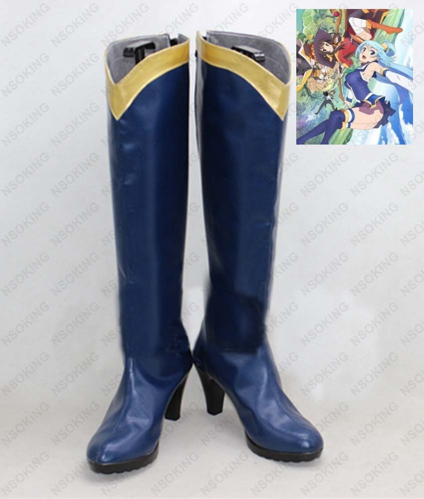 NEW Sekai ni Shukufuku wo KonoSuba Megumin cosplay shoes Boots Custom Made;