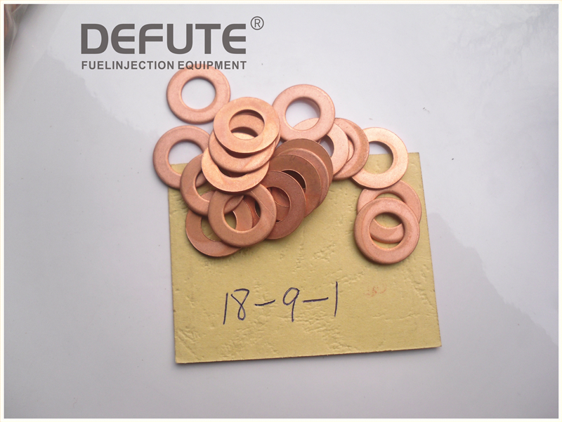 100 pieces Copper Gasket 18-9-1 Diesel injector outside mat outside pure copper pad 18-9-1