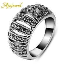 Size 7-9 Femininas Bijuterias lembrancinhas de casamento Vintage Hollow Out Ring For Women retro rhinestoned hollow out leaf ring for women