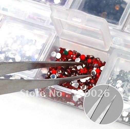 Прямая машинка для стрижки ногтей остроконечные пинцеты для страз#675