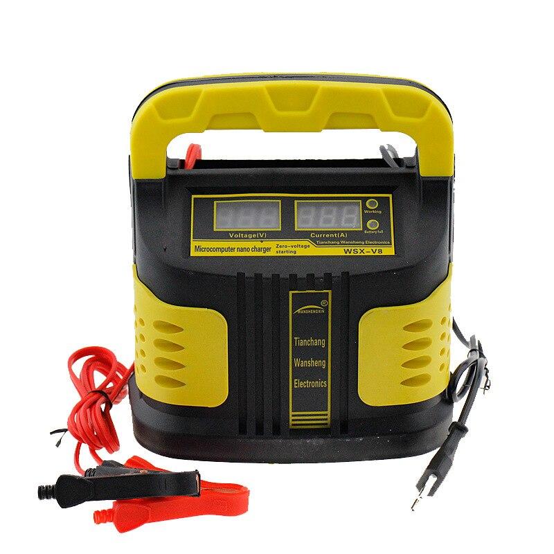 12 v 10A Moto Batterie De Voiture Chargeur Entièrement Intelligente Réparation Complète Automatic110V/220 v avec Écran LCD pour Humide sec Au Plomb