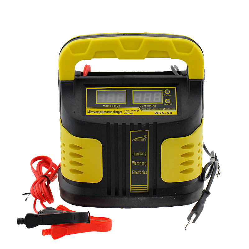12V 10A Motorcycle Car Battery Charger Fully Intelligent Repair Full Automatic110V/ 220V with LCD Display for Wet Dry Lead Acid full automatic 12v 10a car battery charger 110v to 220v intelligent fast power charging wet dry lead acid with lcd display