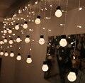 Novedad iluminación Al Aire Libre 48 Granos with10 tamaño grande 5 cm Decoración de Hadas de la Secuencia de la bola LED de Cuerda Luz Estrellada patio Carámbano cordón de Iluminación