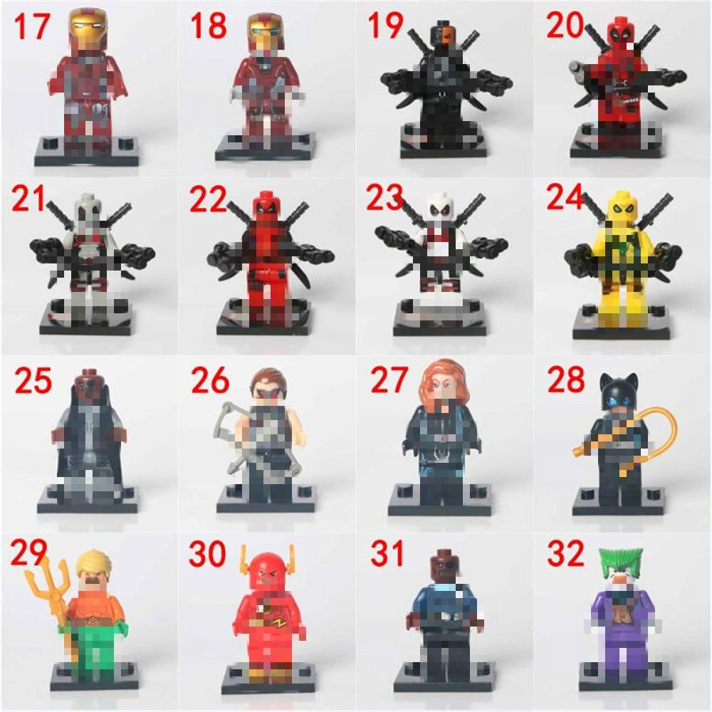Whssxz Super Heroes цифры капитан Американский паук Железный человек здания Конструкторы детей Игрушечные лошадки соколиный глаз Wonder Woman
