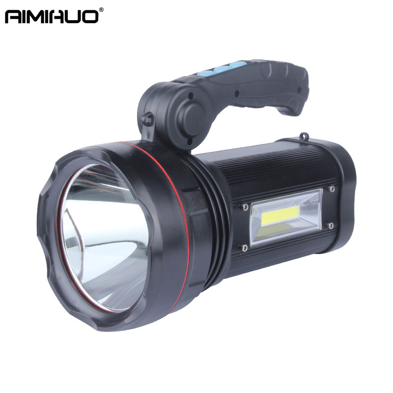 AIMIHUO Flashlight 50W outdoor flashlight LED rechargeable Torch hunting searchlight T6 home portable light Lamp LED Lanterna portable cob flashlight torch usb rechargeable led work light magnetic cob lanterna hanging lamp for outdoor camping