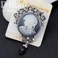 Jóias Vintage cameo rainha cabeça broche victoria pin jóias para lembranças de casamento das mulheres acessórios do traje
