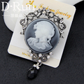 Vintage jewelry cameo brooch queen head victoria pin jewelry for women wedding souvenirs costume accesories