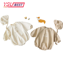 Baby Romper Bat Sleeve Clothes Cotton Triangle Hat-shirt For