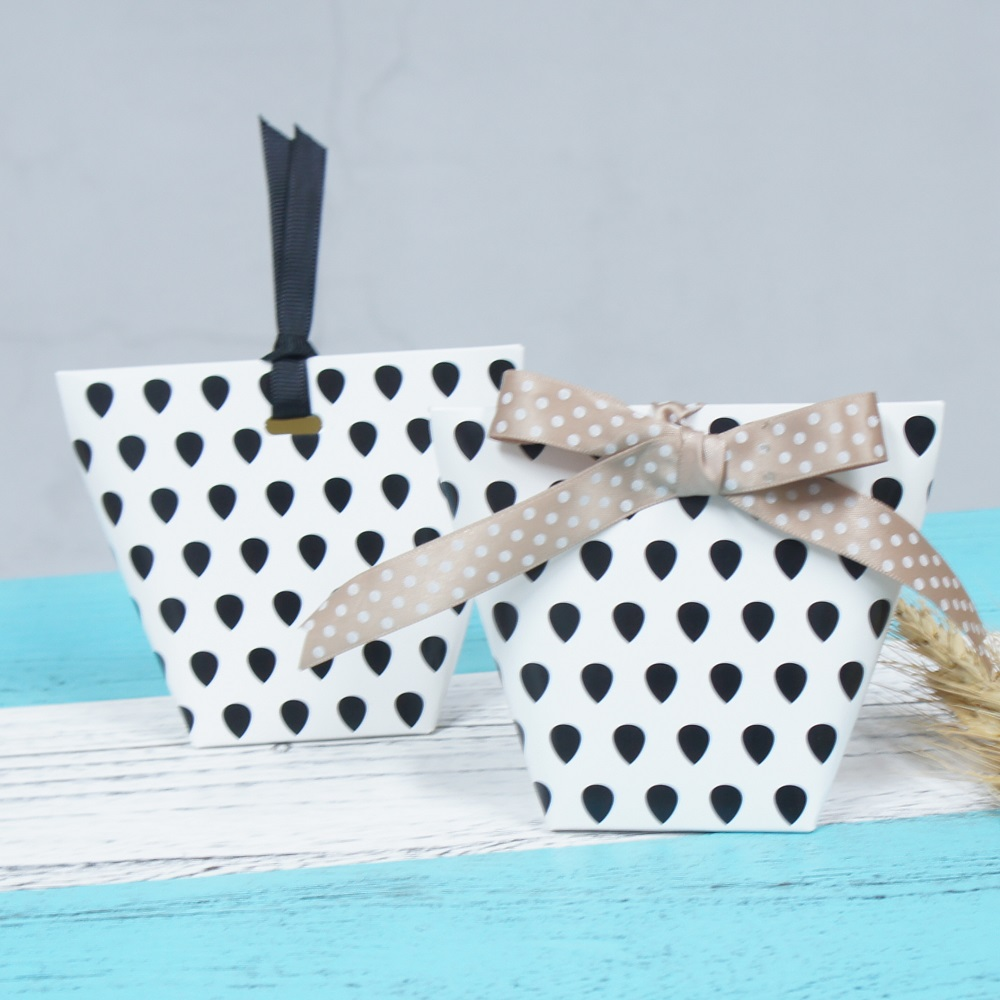 18pcs black Geometry print Paper Box Cookie Candy chocolate Gift ...
