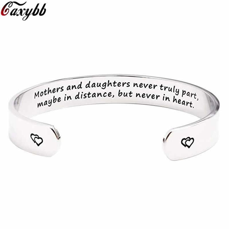 צמיד צמיד אמהות ובתה לא באמת חלק, אולי במרחק, נירוסטה אהבת צמידי צמידים לנשים ילדה