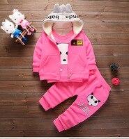 Bambini Baby Set Ragazzi Set di Abbigliamento Invernale 1-4 anni Giacca con cappuccio Inverno Caldo Bambini Panda Vestiti Del Vestito Del Bambino Costumi delle ragazze