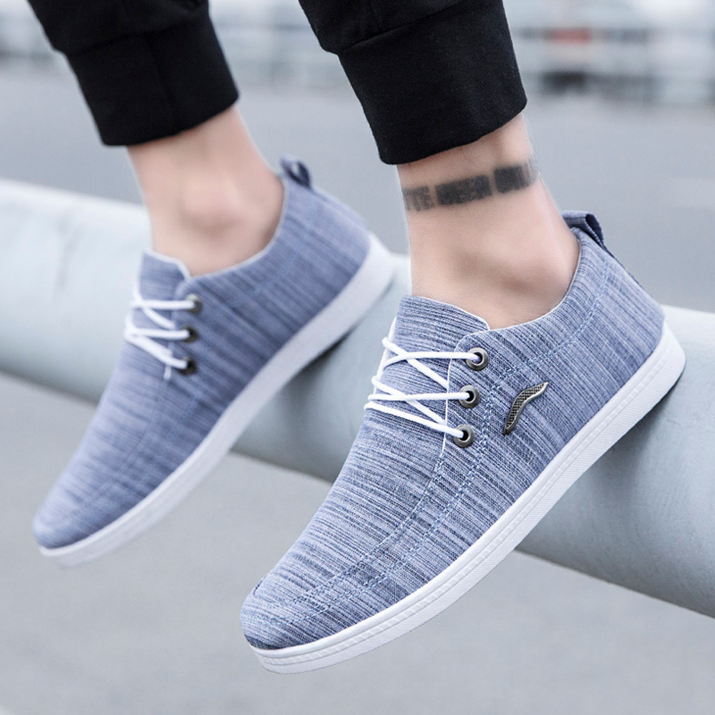2019 Fashion Mens Casual Shoes Outdoor Canvas Casual Lace-Up Shoes Lazy Black White Blue Shoes Breathable Sneakers AQ668-676 C12019 Fashion Mens Casual Shoes Outdoor Canvas Casual Lace-Up Shoes Lazy Black White Blue Shoes Breathable Sneakers AQ668-676 C1