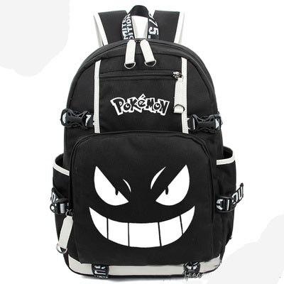 Nouvelle poche monstre Gengar Pikachu sac à dos toile sac cartable sacs de voyage