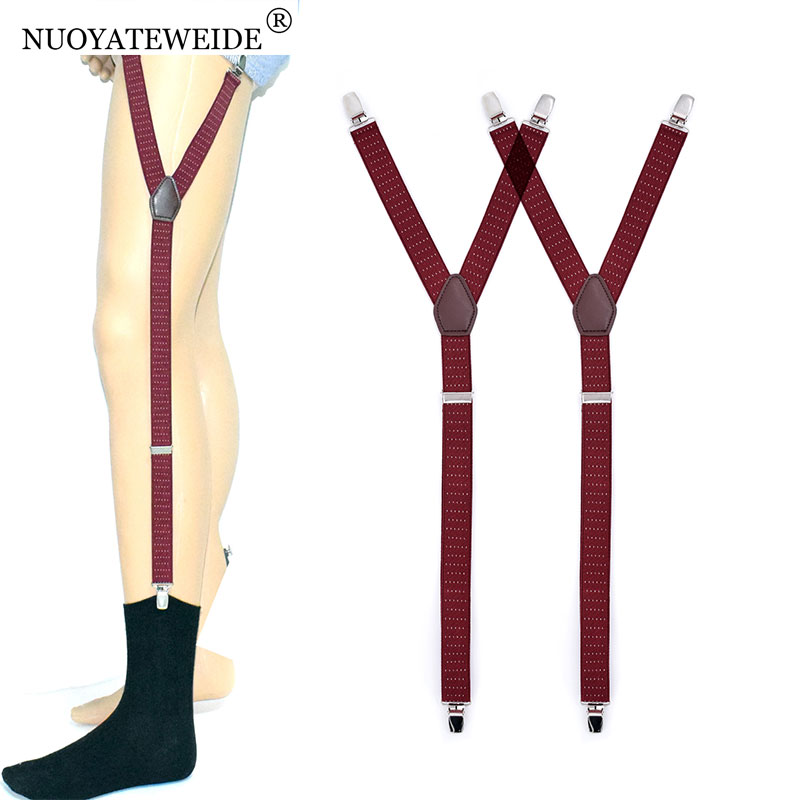 Shirt Garters For Mens Socks Garters Business Male Leg Braces Stirrup Suspenders Shirt Stay Tuck Holders Bretelle Shirt Holder