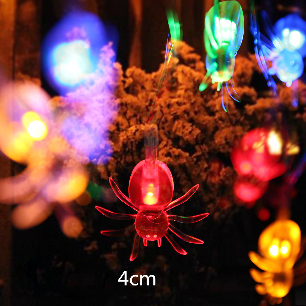 10LED Spider String Lights For Halloween Party Decor Halloween String Light  Fairy Party Supplies Wedding Patio Christmas Decor
