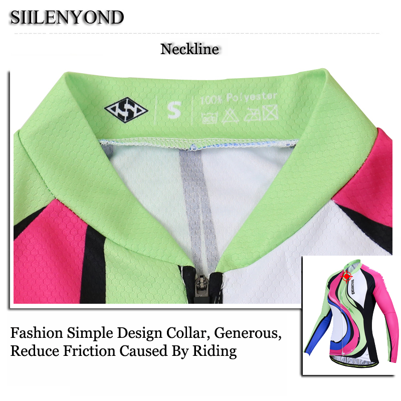Siilenyond 2019 Pro Winter Thermal Fleece Cycling Jersey Keep Warm Racing Bike Cycling Clothing MTB Bicycle Cycling Clothes 9