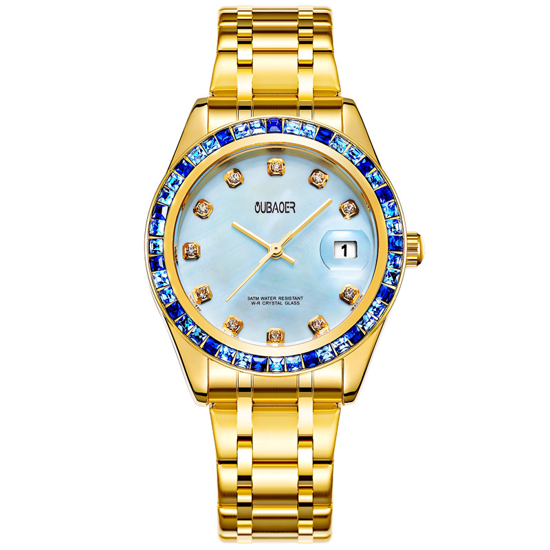 OUBAOER New Famous Watch Women s Rhinestone Quartz Watch Relogio Feminino The Women Wrist Watch Dress