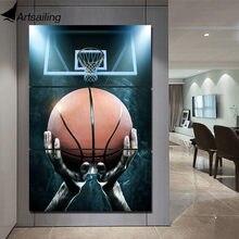 Artsailing Hd Print 3 Stuk Canvas Art Basketbal In Handen Muur Foto Voor Woonkamer Omlijst Unframed Canvas NY-7713C