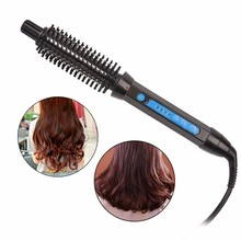 CHJ Professional Ceramic Hair Curler Comb Electric Multifunction Hair Curler & Straightener Comb Iron Styling Tools Hairbrush 32mm ceramic anion hair curler comb hairbrush lcd curling straighting straightener brush roller iron fashion styling tools s34