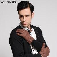 Fashion Black Gray Coffee Men Gloves Wrist Warm Autumn Winter Gloves Noble Soft High Quality Acrylic