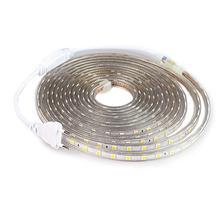 СВЕТОДИОДНАЯ лента SMD 5050 220 В, водонепроницаемая гибкая светодиодная Светильник та 220 В, уличная лампа, 1 м, 2 м, 3 м, 4 м, 5 м, 10 м, 12 м, 15 м, 20 м, 25 м, 60 светодиодов