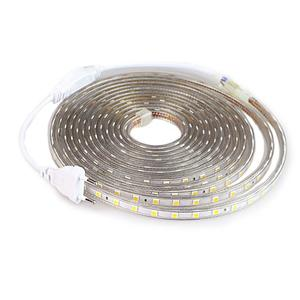 Image 1 - Taśma LED SMD 5050 220V wodoodporna elastyczna taśma oświetlająca LED 220V lampa zewnętrzna ciąg 1M 2M 3M 4M 5M 10M 12M 15M 20M 25M 60LEDs