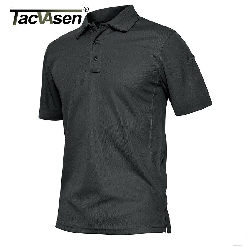 TACVASEN летние рубашки поло мужские футболки с коротким рукавом быстросохнущие армейские тактические военные рабочие футболки для гольфа топ...