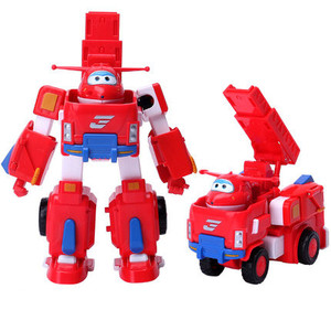 Image 5 - HOT 17*11 cm Super Ali giocattoli Aereo ABS Action Figures Super Ala Trasformazione Robot Jet di Animazione per il compleanno regali