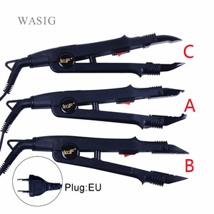 1pc JR-611 A/B/C tip Professional Hair Extension Fusion Iron Heat Connector Wand Iron Melting Tool+EU outlet(China)