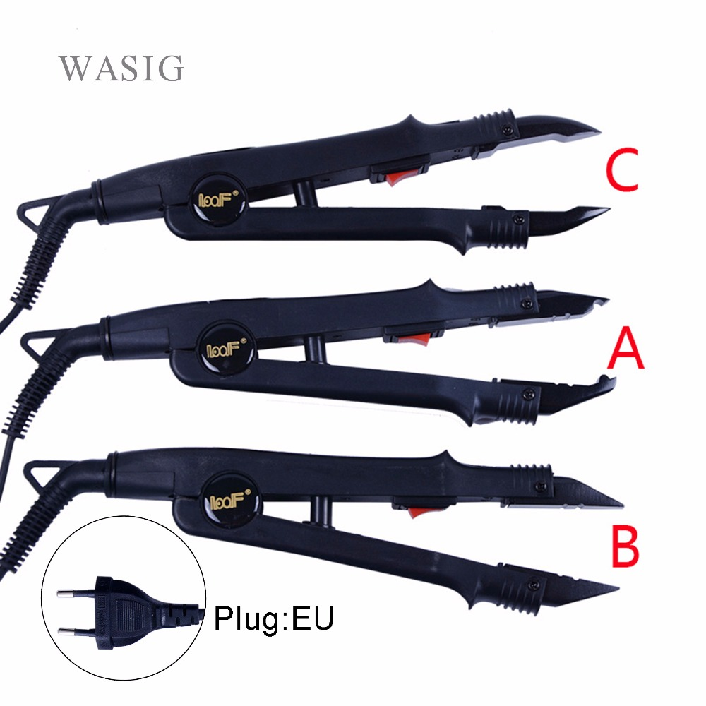 1pc JR-611 A/B/C tip Professional Hair Extension Fusion Iron Heat Connector Wand Iron Melting Tool+EU outlet