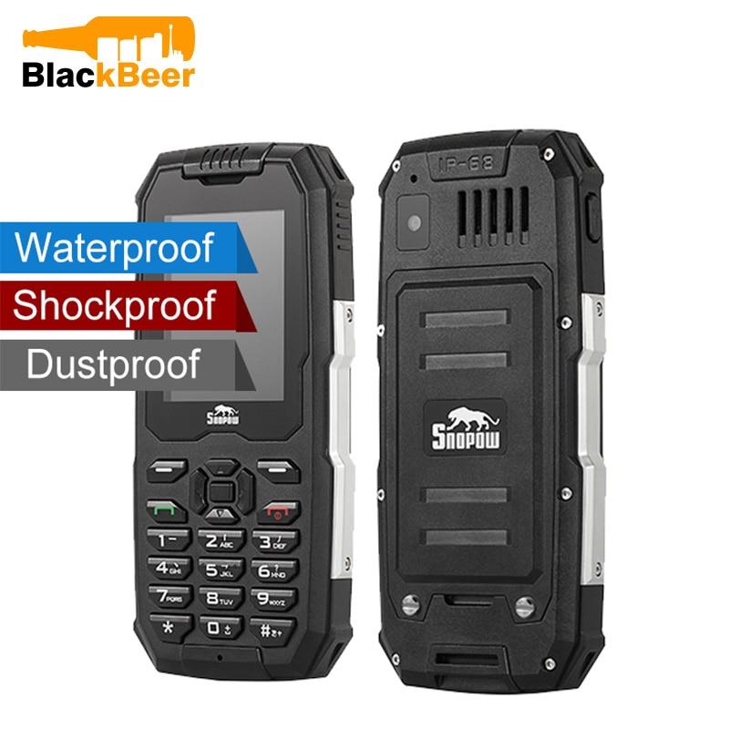 Snopow M2 IP68 Waterproof Shockproof Phone 2500mAh Superbattery Unlocked Cell Phones 2G Rugged Phone For Elderly