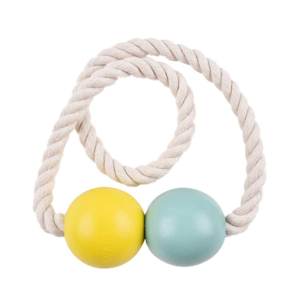 1 coppia Colorful Magnetica Perline di Legno Finestra Curtain Tie Indietro Holder Decor per il Pannello Garza/Tenda di Portello 10 Colori disponibile