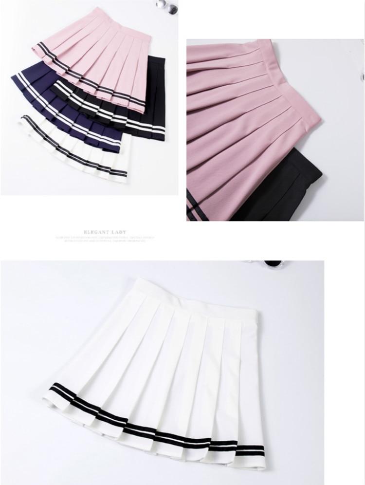 Falda de animadora estilo sailor en diferentes colores 8