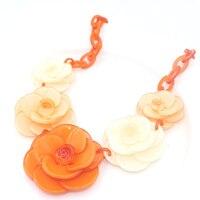 Collier colar flor 2017 verão Da Marca de Luxo Jóias Multilayer Design cor Cadeia marca M * I Declaração Colar de Flores de Resina