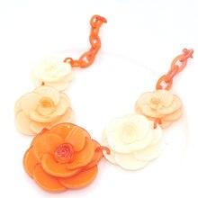 чокер бусы Колье цветок ожерелье 2016 лето люксовый бренд ювелирные изделия многослойные дизайн цвет цепь цветок смолаы бренд заявление ожерелье цепочки