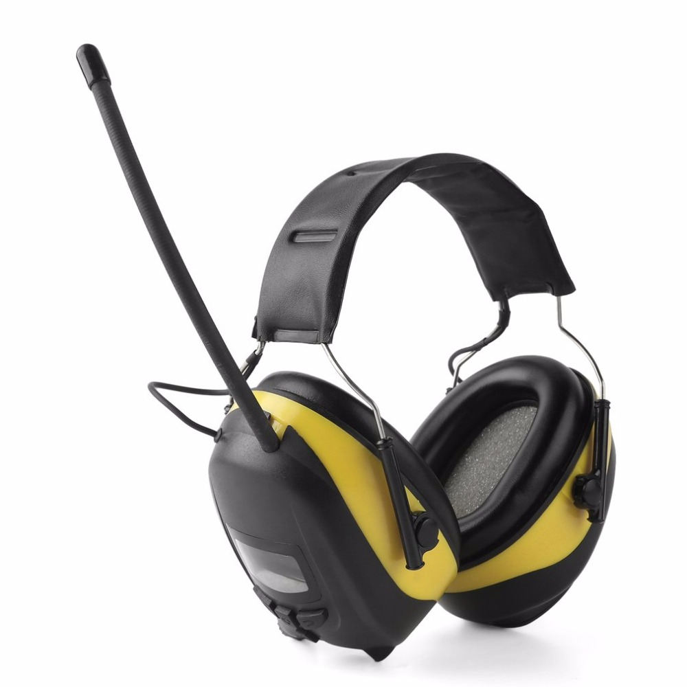FM/AM Radio Anti-noise Earmuffs Hunting Electronic Tactical Earmuff Shooting Ear Protector Hearing Protecting Earmuffs Headphone headphone 2018 new tactical anti noise electronic earmuff fold ear sport earmuffs for 21snr professional outdoor travelling gift