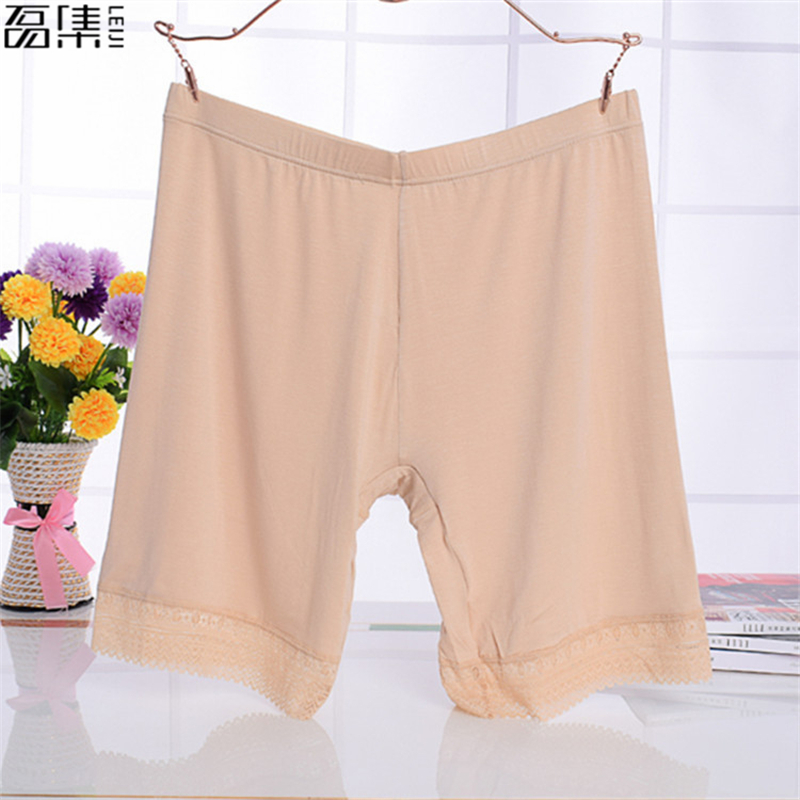 Women Soft Cotton Seamless Safety Short Pants big size Summer Under Skirt Shorts Modal Ice Silk Breathable Short Tights