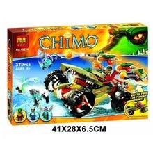 Bela 10294 Chimo Series CROCODILE KING Flaming Chariot Minifigure Building Block 379Pcs Bricks Toys Best Toys