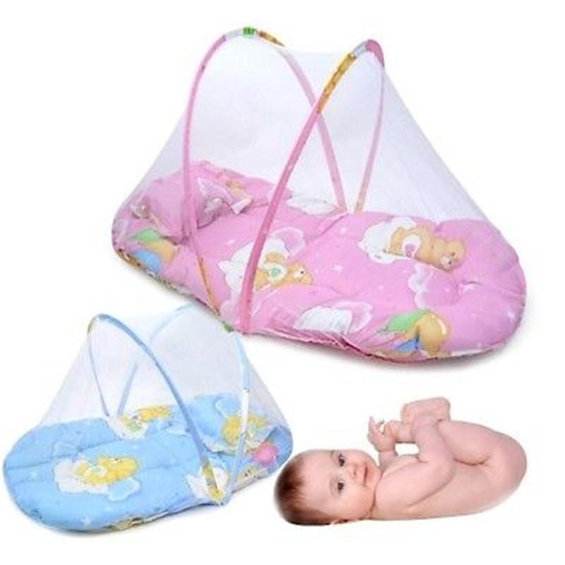 Baby Infant Portable Folding Travel Bed Net Crib Mesh Canopy Mosquito Insect Bedding Canopy Curtain Dome Tent
