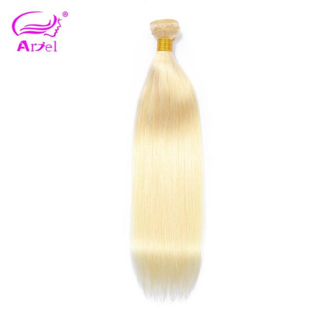 Productos para el cabello Ariel pelo recto Remy malayo paquetes de pelo completo 613 Color 10-26 pulgadas Rubio 100% cabello humano tejido la extensión del pelo