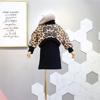 Girl Clothing Set 2019 Spring New Personality Leopard Fleece Thickening Sweater+dress 2pcs Girl Set Baby Clothes Girls Outfits