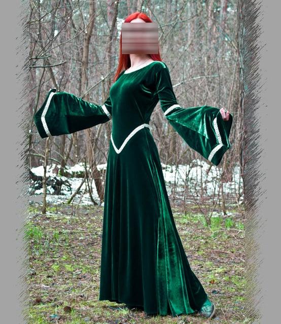 Global FreeShipping Fantasy Green Dress Medieval Dress Party Renaissance  Dresses Elven Dress Costumes a0e89065d8f8