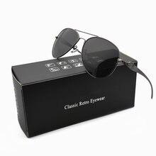 e3108e503 أفضل HD الاستقطاب النظارات الشمسية الرجال العلامة التجارية مصمم الإطار  المعدني القيادة الرجعية الرجل نظارات شمسية UV400 ظلال نظا.